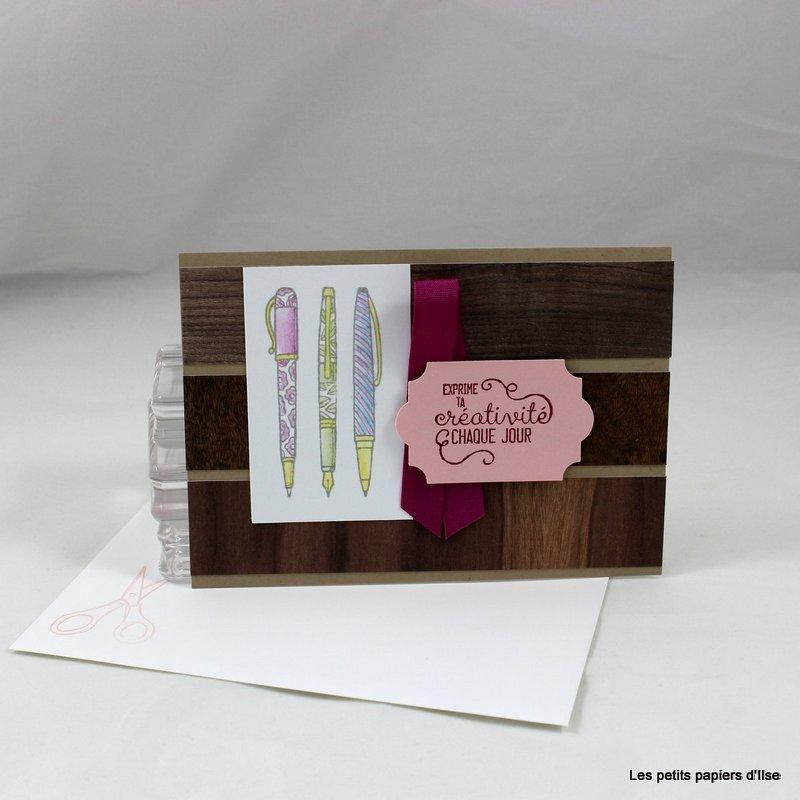 Photo de l'invitation crayons et bois