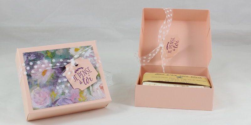Photo de la boite pour savon rectangulaire