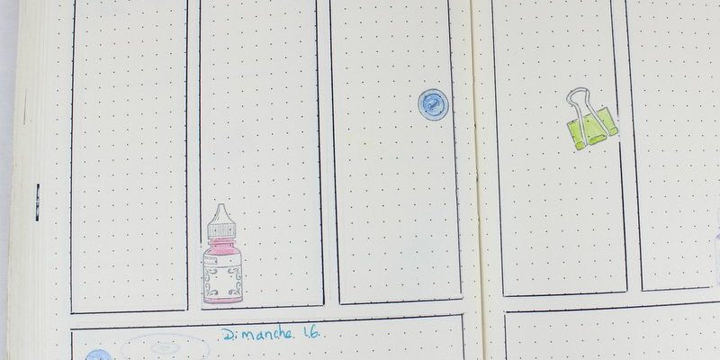 Photo de mon bullet journal de juin
