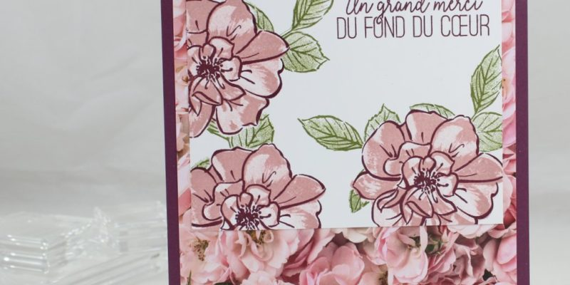 Photo du carnet remerciements fleuris
