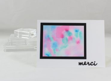 Photo de la carte au tableau aquarelle