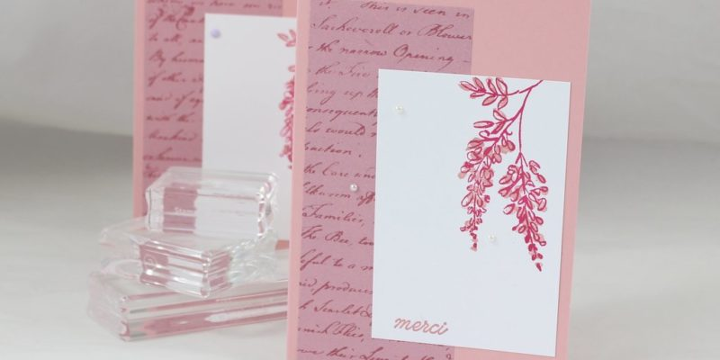 Photo de la carte simple aux feutres stampin' write
