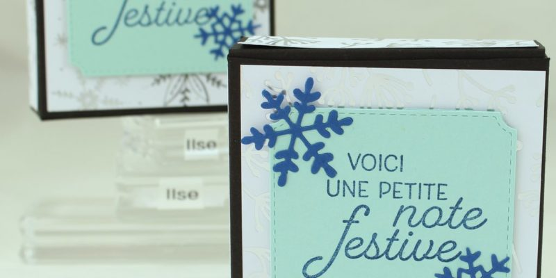 Photo de la oite à cartes-notes de noël