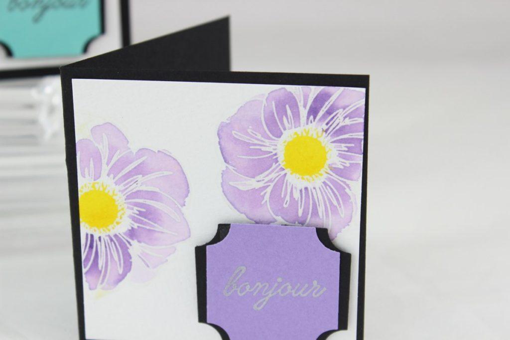 Détail de la carte à bonheurs aquarelle simple