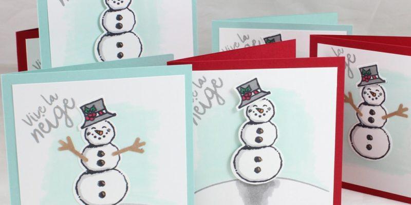 Photo des cartes à bonheurs bonshommes de neige
