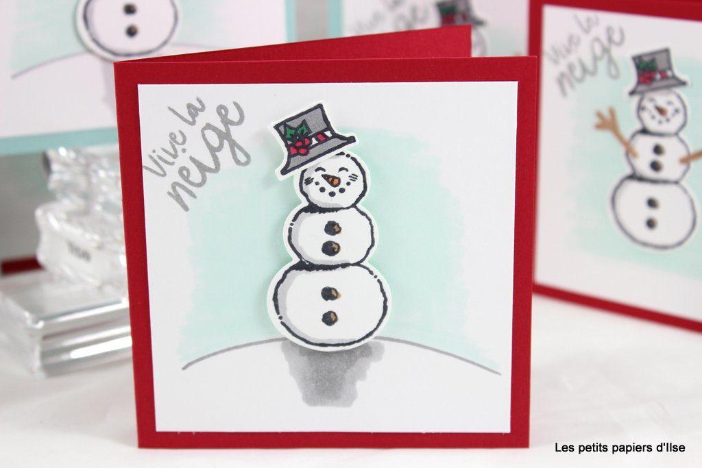 Détail des cartes à bonheurs bonshommes de neige