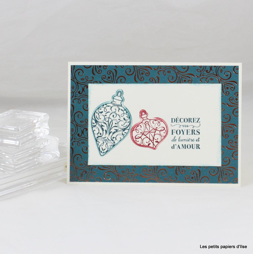 Photo de la carte de vœux étincelante