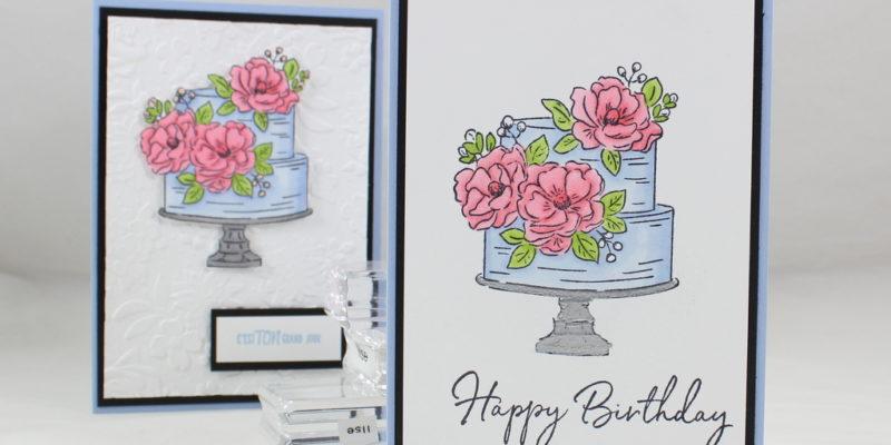 Photo de la carte au gâteau d'anniversaire