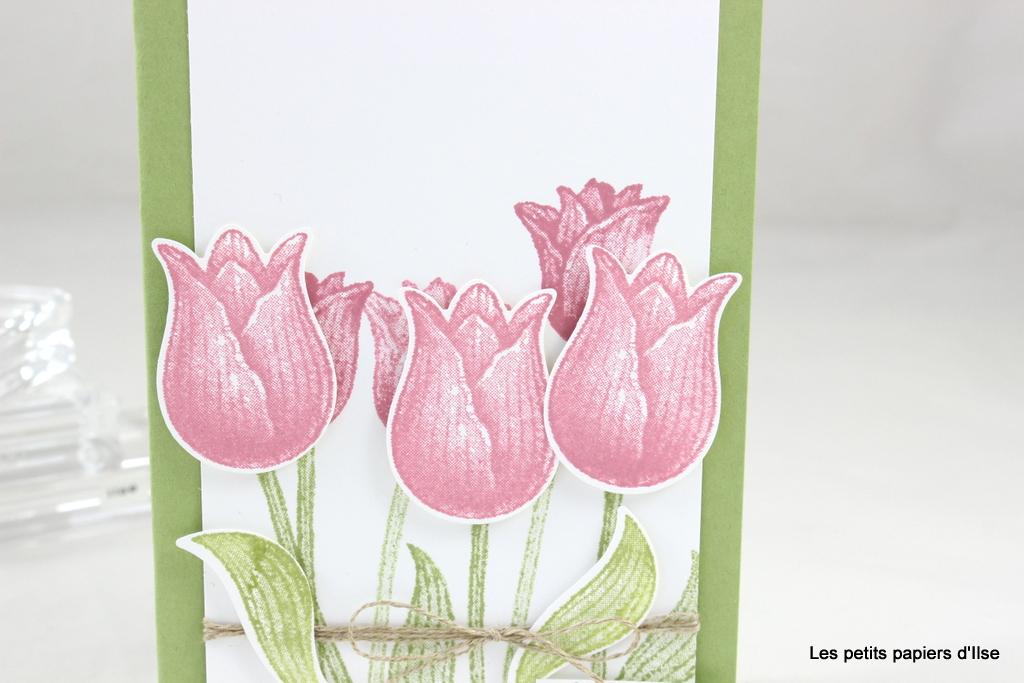 Détail de la carte aux tulipes d'OnStage