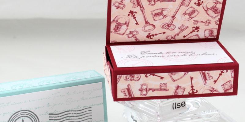 Photo de la boite d'allumettes décorée