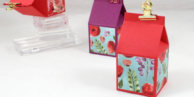 Photo de la boite carton de lait coquelicot
