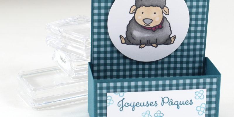 Photo de la boite à chocolats de Pâques