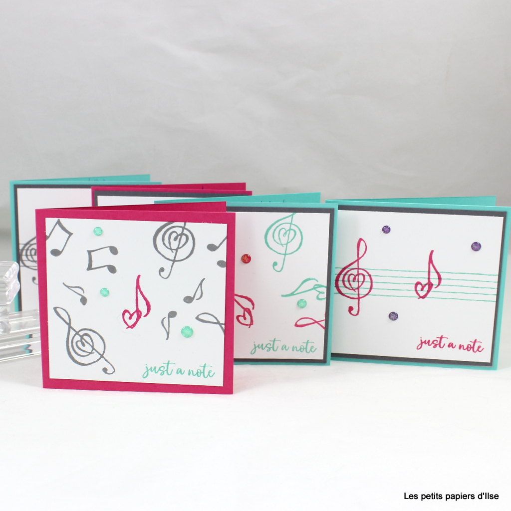 Photo des cartes notes de musique