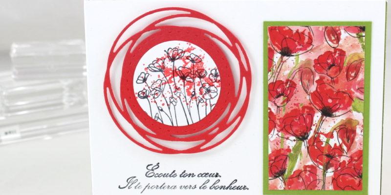 Photo du mini-album aux coquelicots