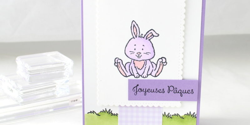 Photo de la carte du Blog hop des stampin girls spécial Pâques