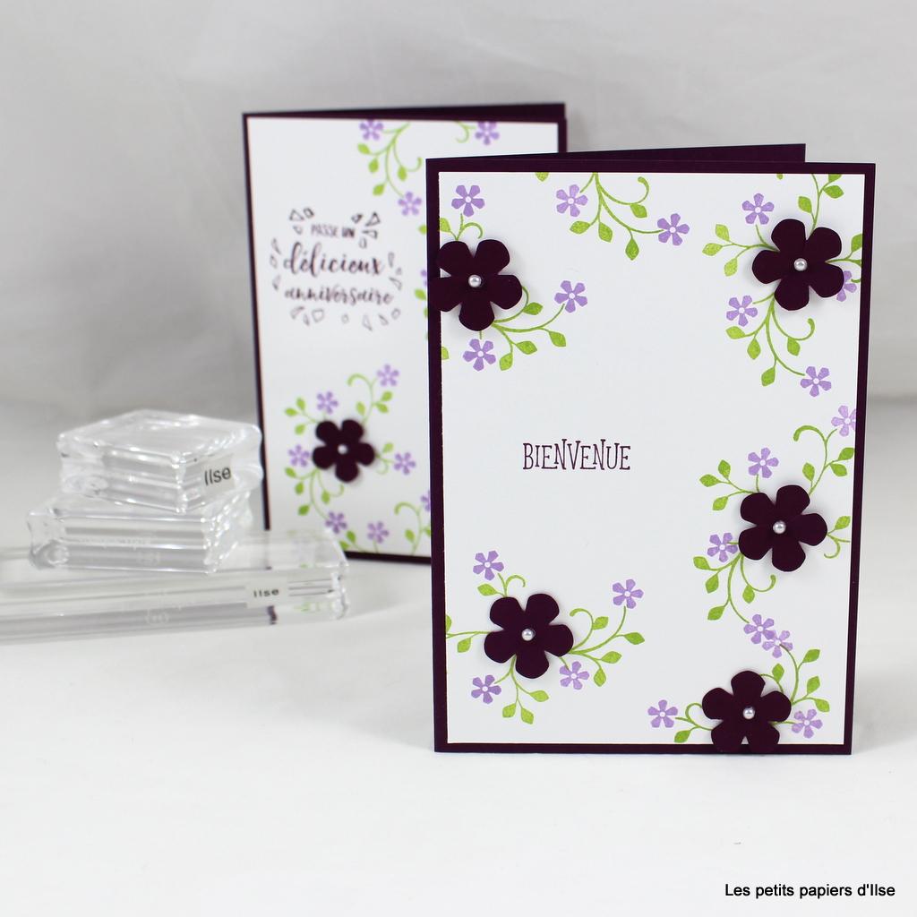 Photo de la carte aux petites fleurs cassis