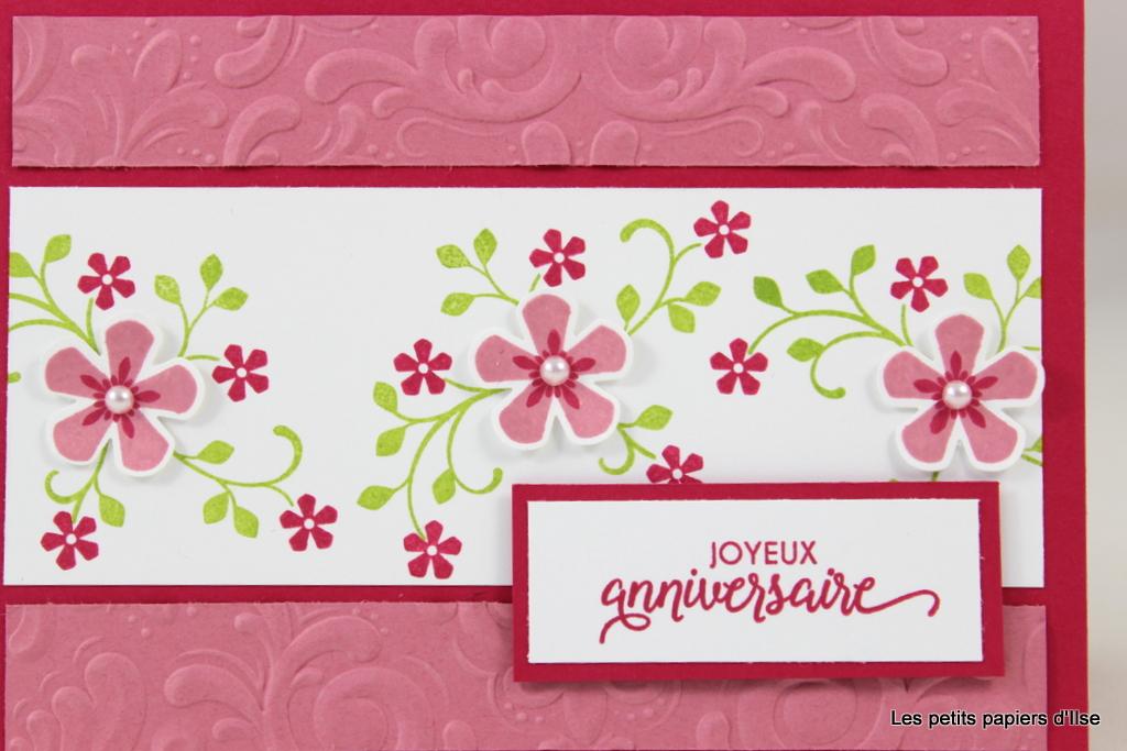 Détail de la carte d'anniversaire fleurs du printemps