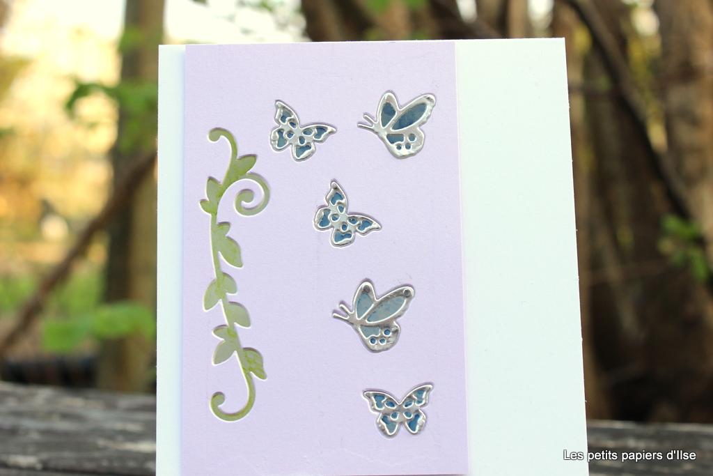 Carte aux papillons façon vitrail