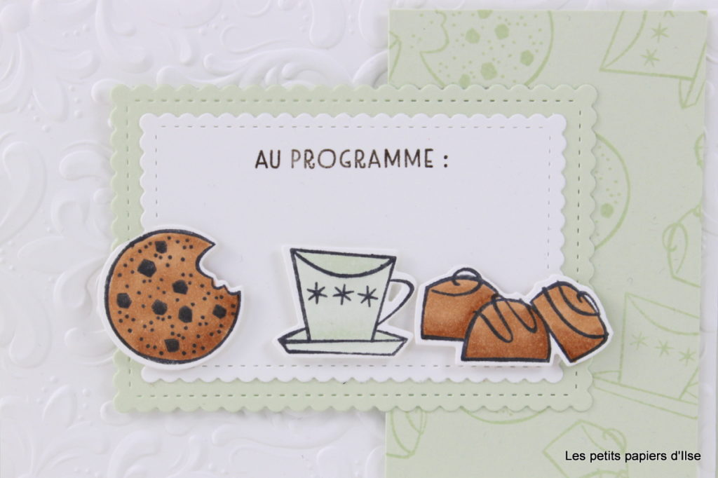 Photo de la carte cookies au programme dans la version 2