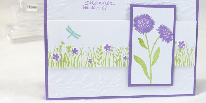Photo de ma carte swap pour les stampin girls