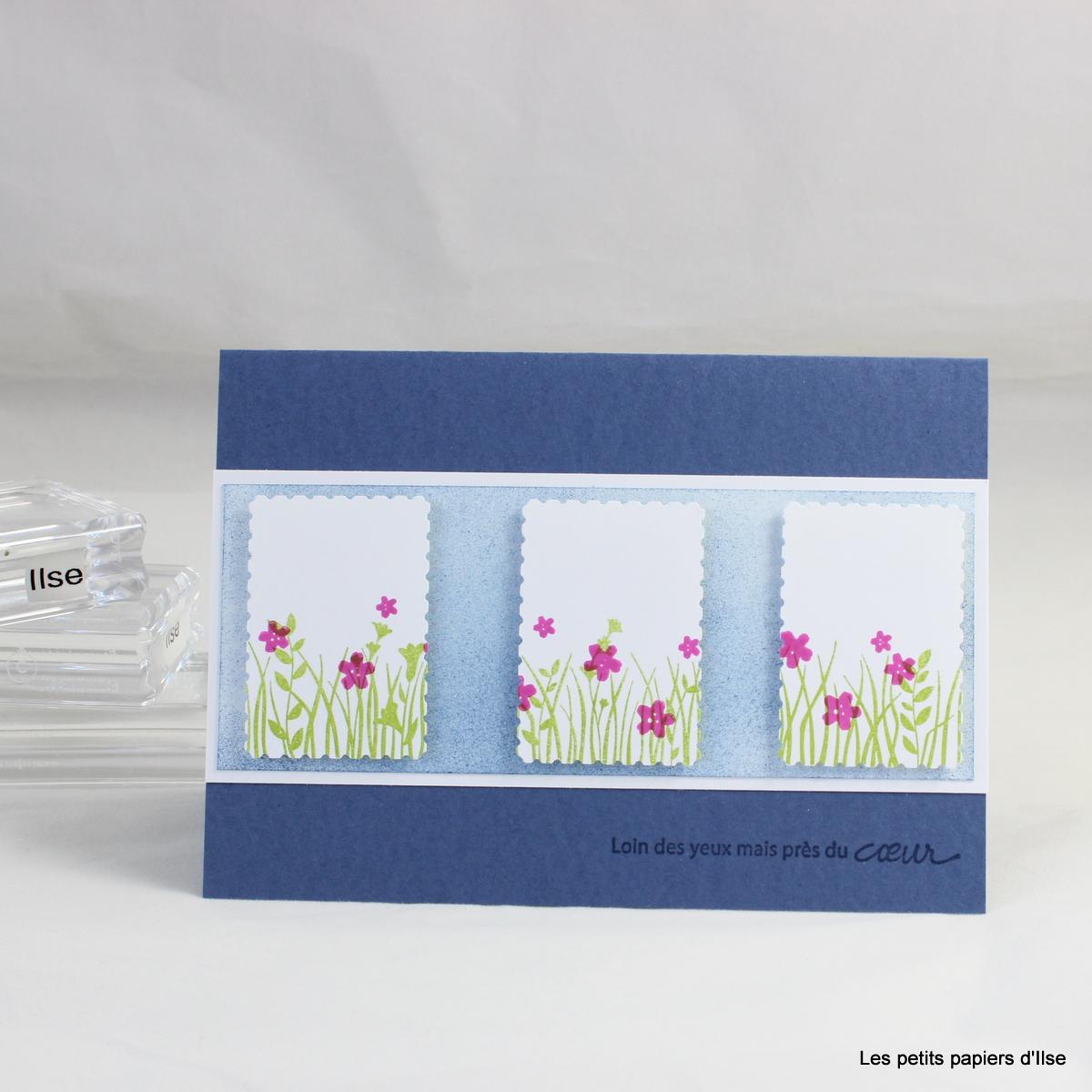 Photo de la carte aux timbre charmants