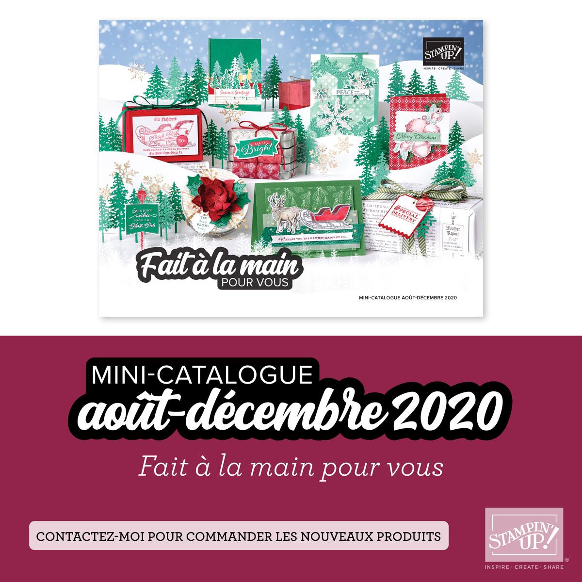 Couverture du catalogue août-décembre 2020
