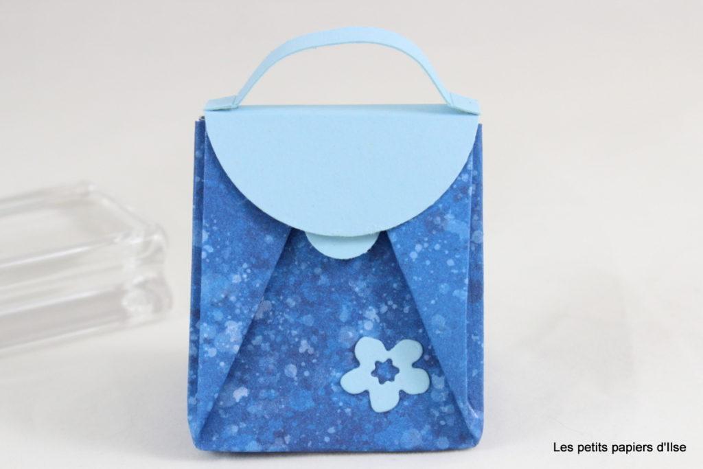 Détail du mini sac en origami