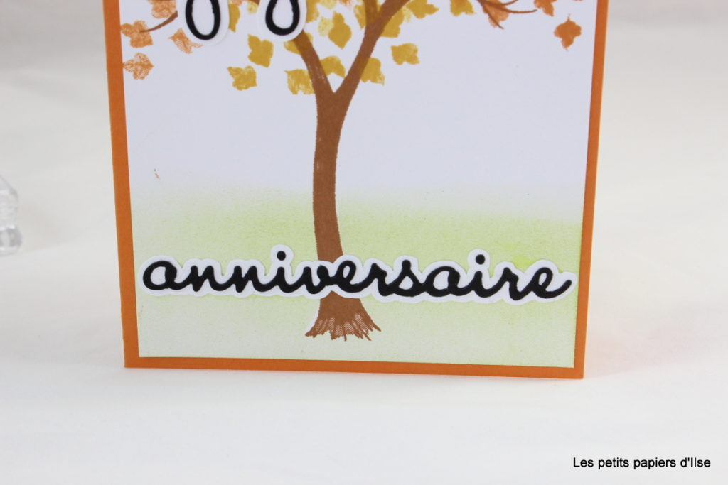 Détail de la carte d'anniversaire automnale