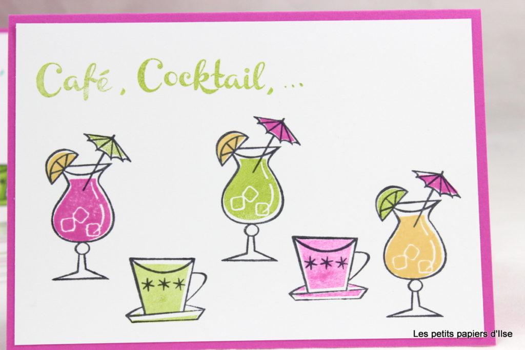 Détail de la carte tamponnée café ou cocktail