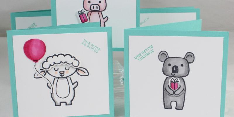 Photo des cartes à bonheurs mini-ferme