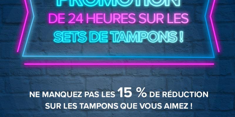 Flyer de la promotion sur les sets de tampons