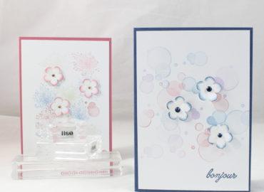 Photo de la carte simple petites fleurs et combo de couleurs