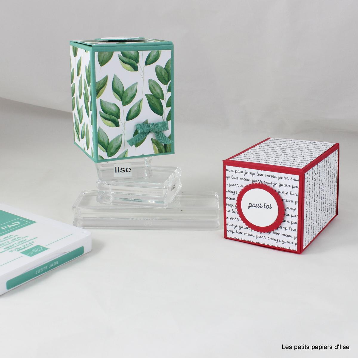 Photot de la boite cadeau simple pour une bougie maison
