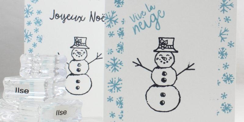 Photo de la carte simple au bonhomme de neige