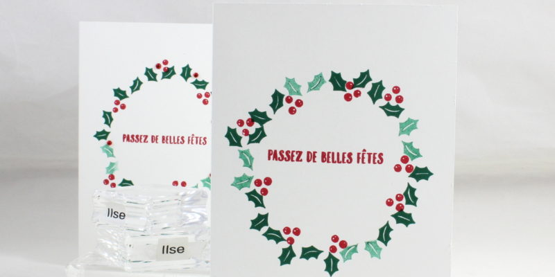 Photo de la carte simple couronne de noël