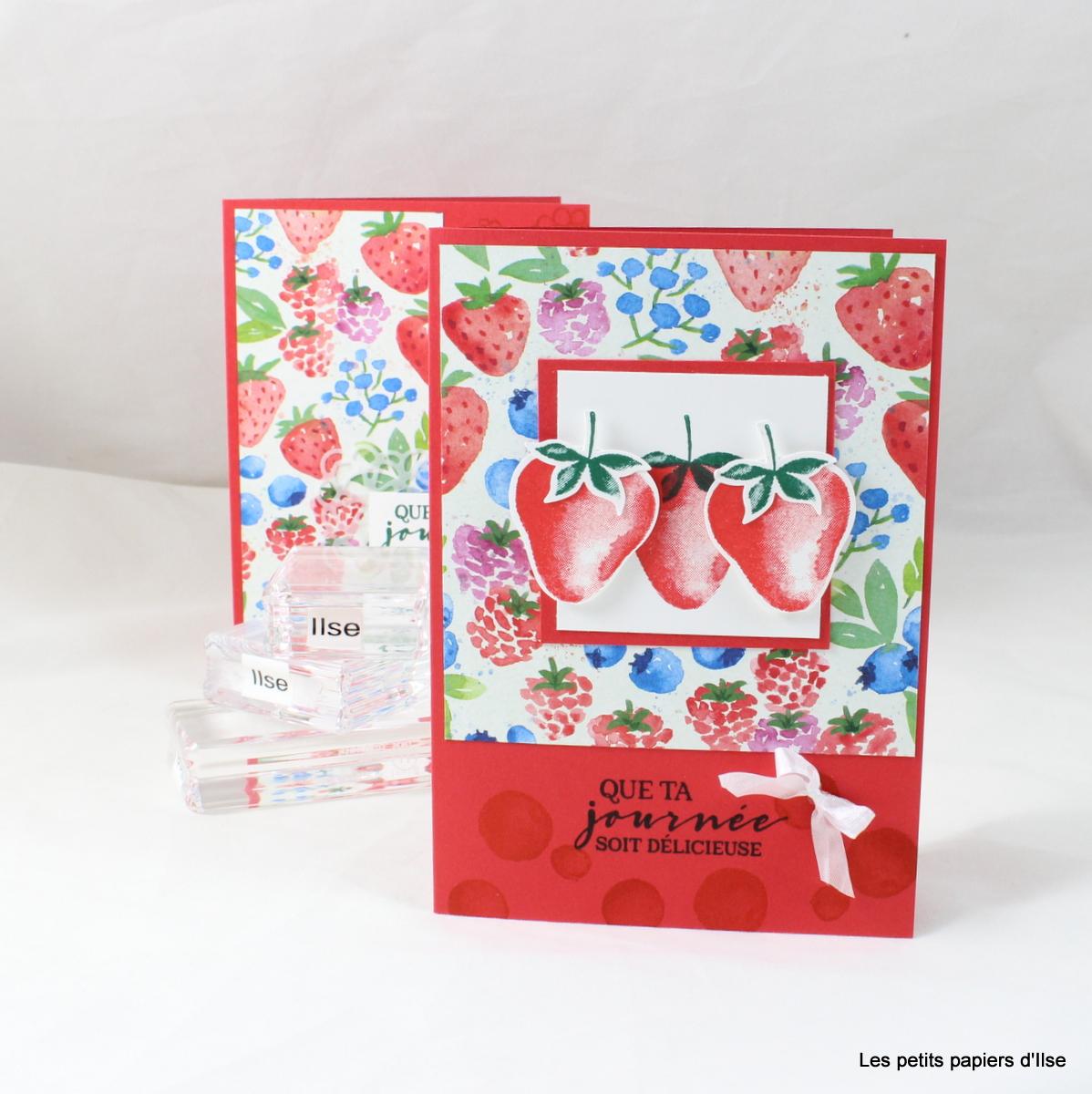 Photo de la carte simple aux fraises