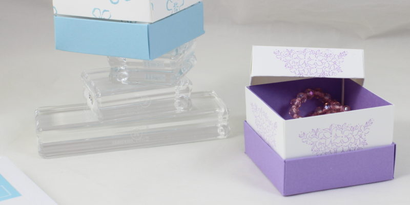 Photo de la boite cadeau doublée