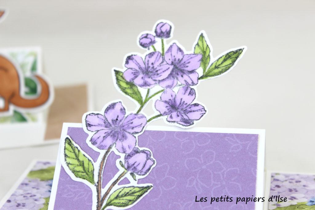 Détail de la carte chevalet partiel fleurie