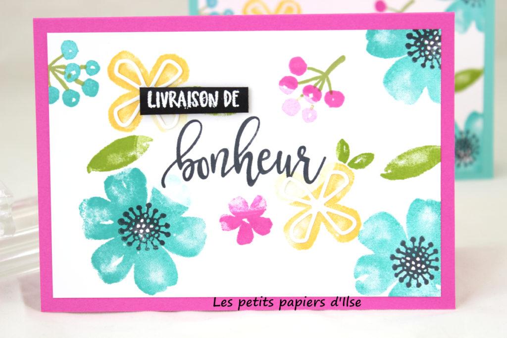 Détail de ma carte Stamp impressions europe spring fling