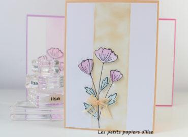 Photo de ma série de cartes Mille mercis fleuris