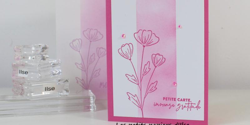 Photo de ma carte simple aux mille mercis fleuris