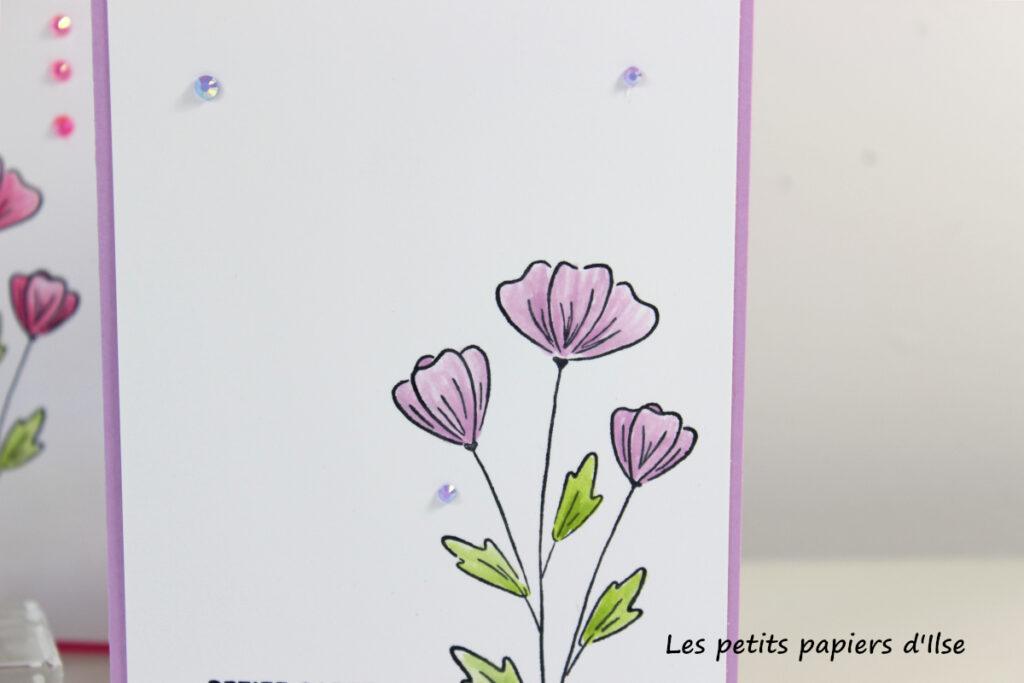 Détail de ma carte simple au crayon-estompe