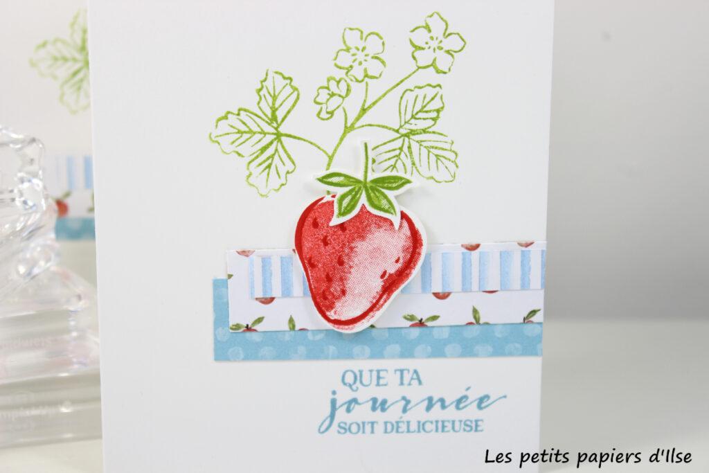 Détail de ma carte simple à la fraise