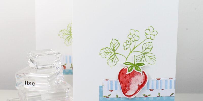 Photo de la carte simple à la fraise