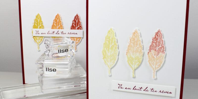Phot de ma carte aux trois feuilles d'automne