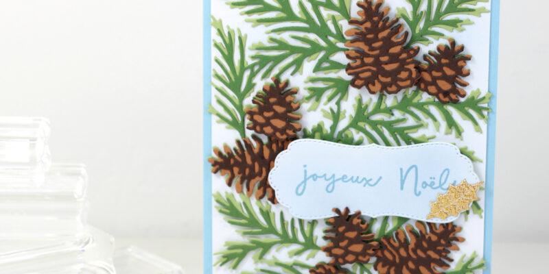 Photo de ma carte aux pommes de pin