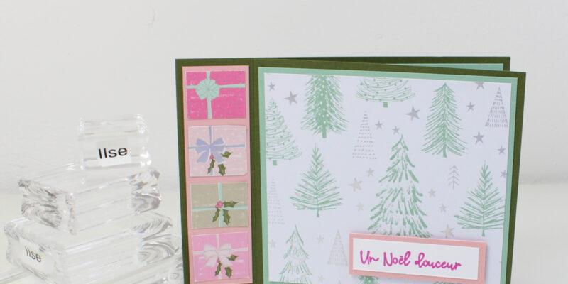 Carte simple à la pile de cadeaux