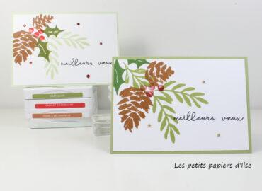 Photo de ma carte simple aux pommes de pin